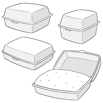 Set of foam boxes