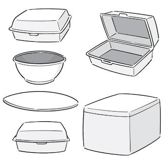 Set of foam container