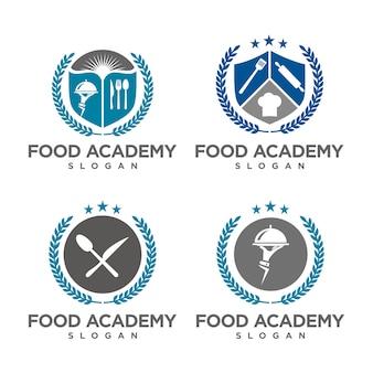 Set of food academy logo