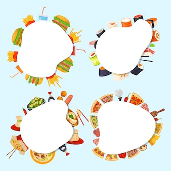 Set of food banners
