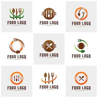 Set of food logos