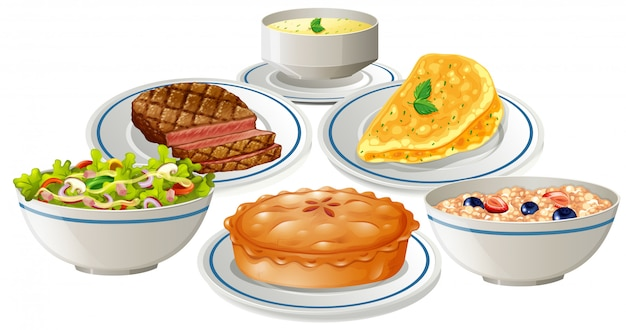Set of food on plate