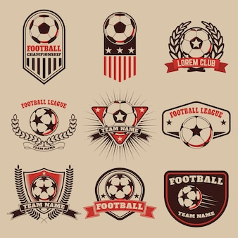 Set of the football labels