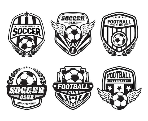 Set of football logo design templates