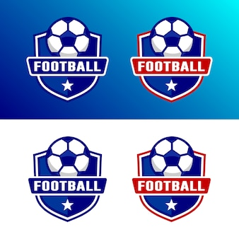 Set of football soccer logo template