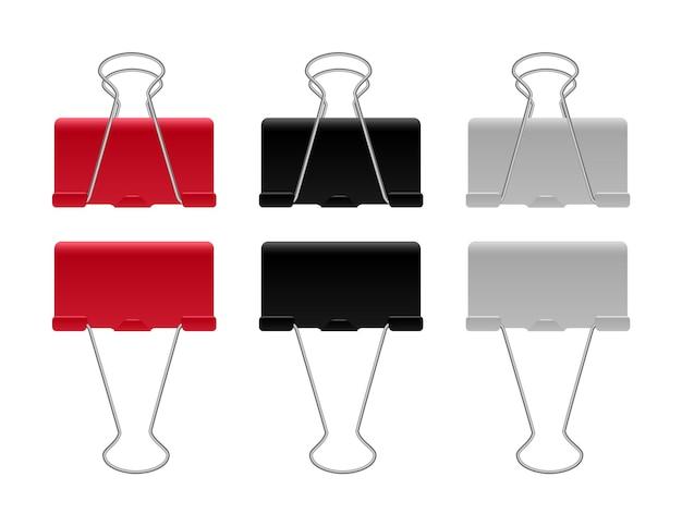 Набор цветных скрепок или зажимов для бумаги