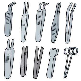 Set of forceps