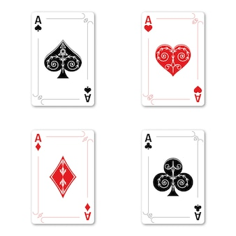 Set four aces deck of cards