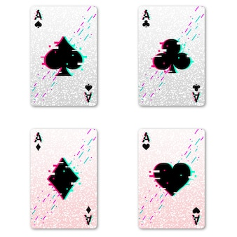 Set four aces for playing poker and casino.