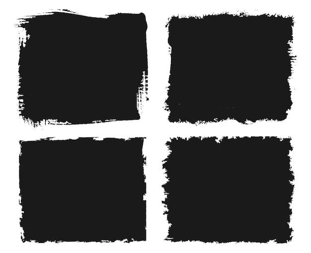 Set of four grunge frames