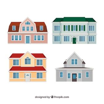 Set of four luxurious houses