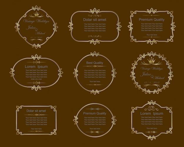 Set of  frames with flourish decoration