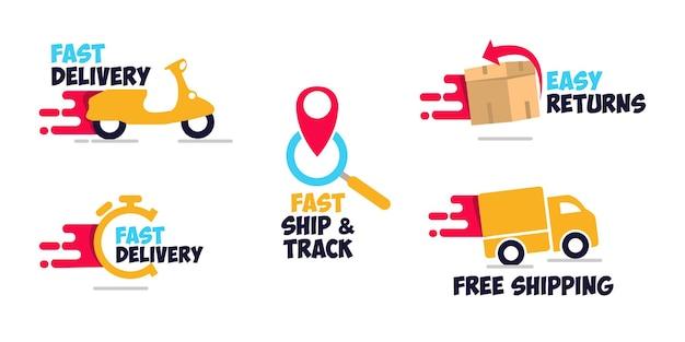 Установить бесплатную доставку значок шаблона