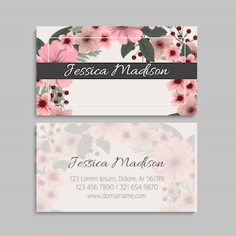 Set of front and back of business card template