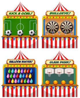 A set of fun fair game