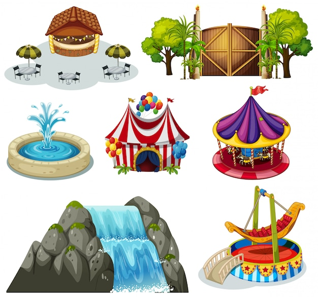 A set of fun fair
