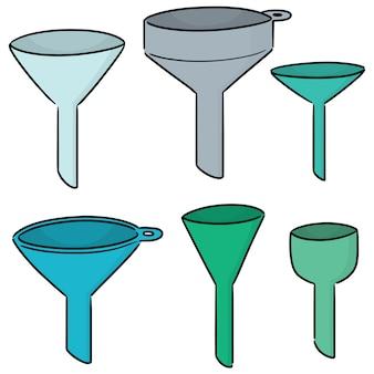 Set of funnels