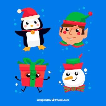 Set di caratteri natalizi divertenti