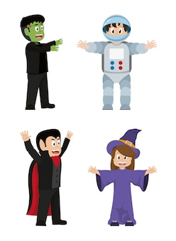 Set funny costumes to halloween event