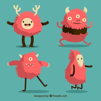 Set of funny monsters character