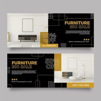 Set di banner di vendita di mobili