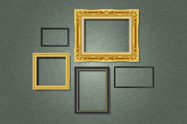 Set of gallery frames