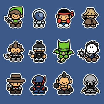 Set of game characters