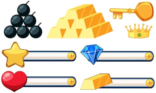 Set of game icon