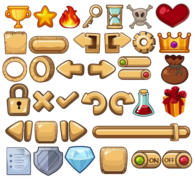 A set of game icons