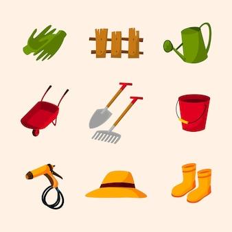 Set of gardening item set