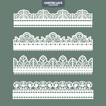 Набор подвязки кружева орнамент для вышивки и лазерной резки