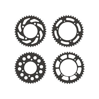 Set of gear wheels sprocket