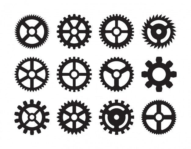 Set of the gears