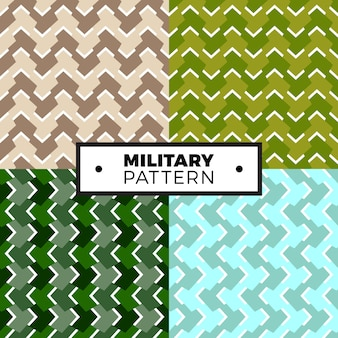 Set of geometric arrow camouflage patterns