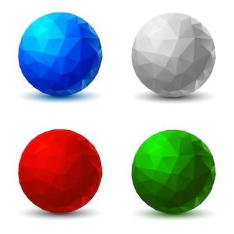 Set of geometric balls.  illustration.