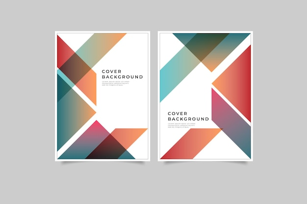 Set of geometric cover gradient color