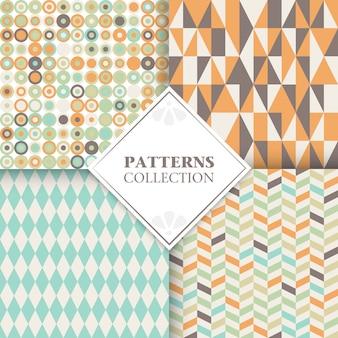 Set of geometric design cards