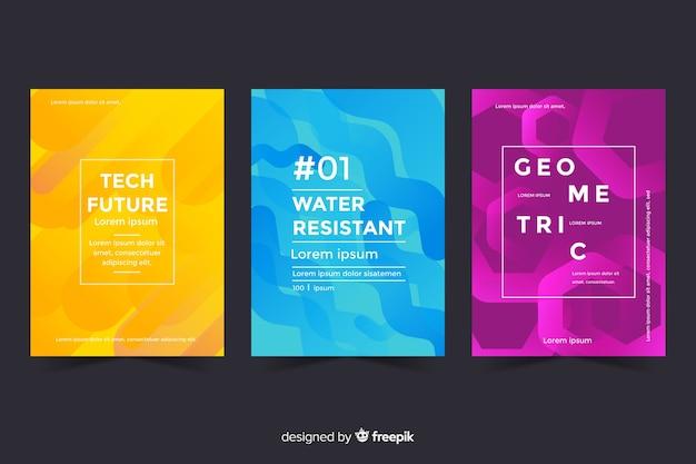 Set of geometric design covers