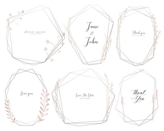 Set of geometric frame.