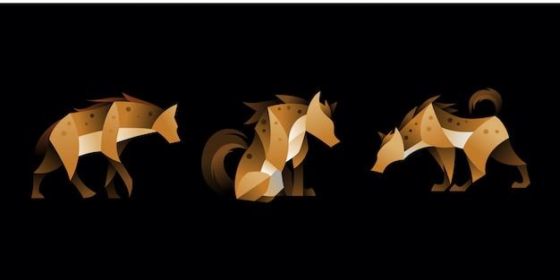 Set of geometric hyena