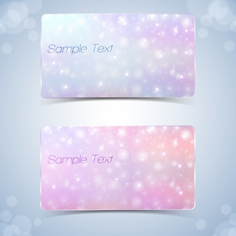 Set of gift cards with sparks design