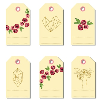 Set of gift tags. vector illustration.