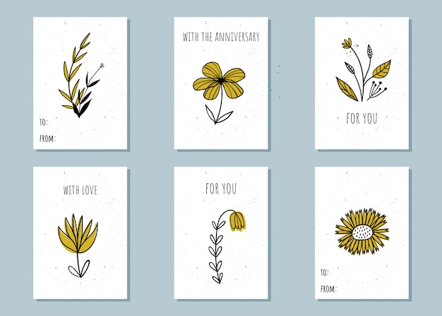 A set of gift templates, invitation cards