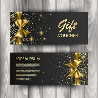 Set of gift voucher card template, advertising or sale.