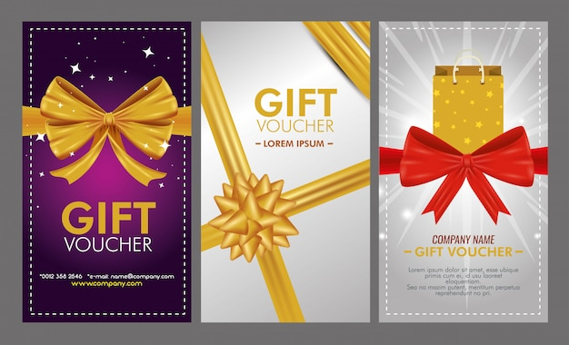Set of gift voucher with special sale