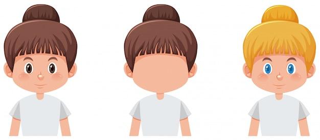 Set of girl character