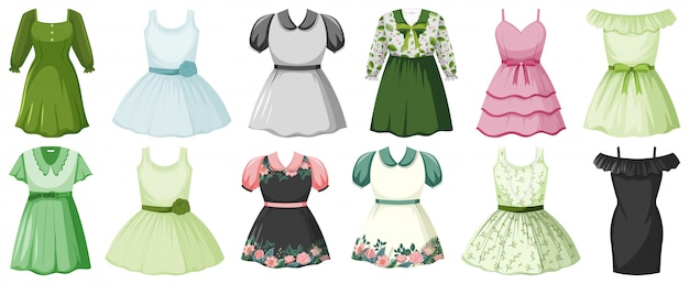 Set of girl outfits
