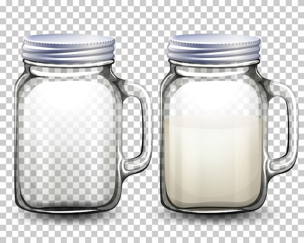 Set of glass jars