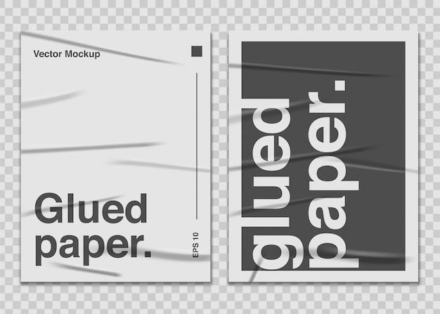 Установите клееную бумагу