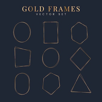 Set of gold frame